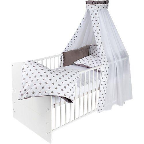 Schardt Kinderbett CLASSIC LINE komplett WEIß, weiß, 70 x 140 cm, Big Stars grey