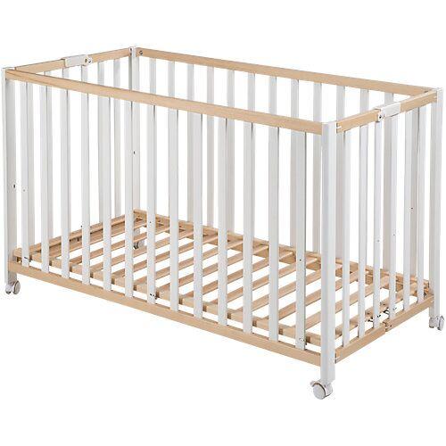 Roba Kinderbett FOLD UP, klappbar, 60 x 120 cm, bicolor weiß