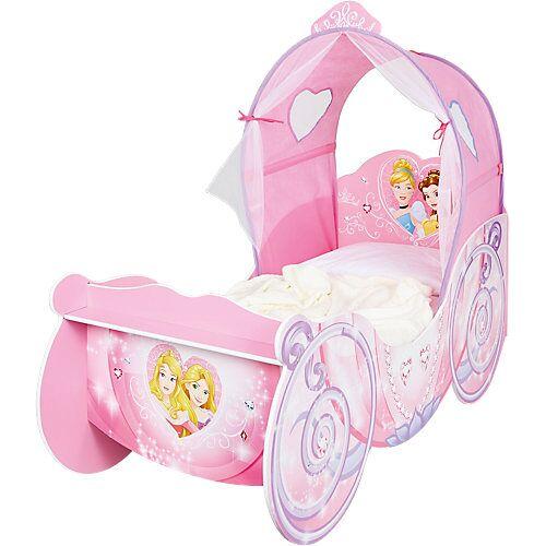WORLDS APART Kinderbett Kutsche mit leuchtendem Bogen, Princess, rosa, 70 x 140 cm