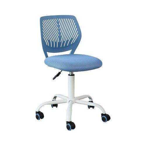 SoBuy® Drehstuhl mit Rücklehne, höhenverstellbar blau