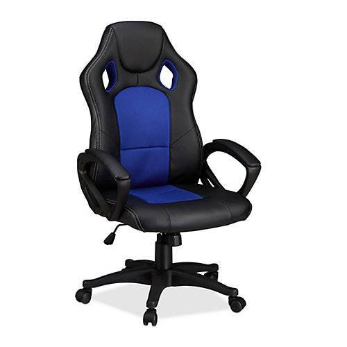 relaxdays Gaming Stuhl XR9 im Racer Design blau