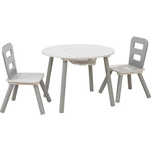 KidKraft Kindersitzgruppe 3-tlg., grau weiß