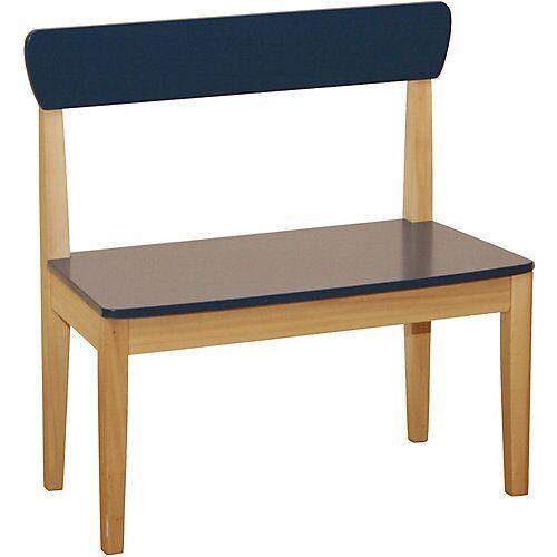 Roba Sitzbank, MDF blau lackiert