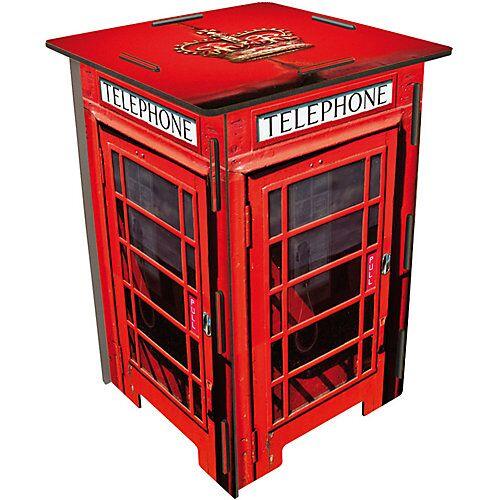 WERKHAUS® Photo-Hocker Telefonzelle London rot-kombi