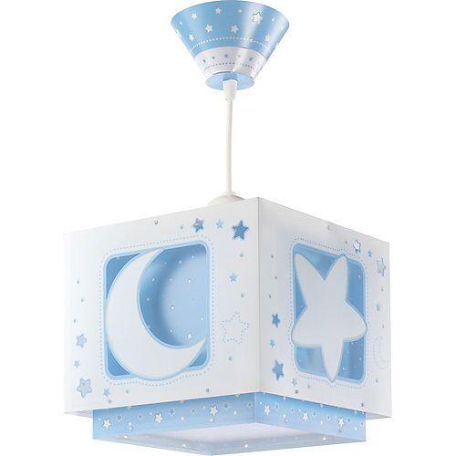 Dalber Hängelampe Mond & Sterne, blau/weiß