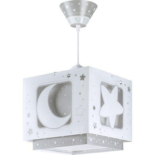 Dalber Hängelampe Mond & Sterne grau/weiß