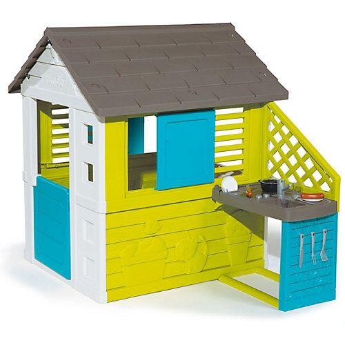 Smoby Pretty Haus mit Sommerküche grün/weiß