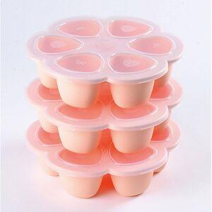 BÉABA Multiportions aus Silikon 6 x 150 ml rosa