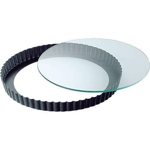 Kaiser Backformen Backform Quiche & Kuchenboden mit Glasboden ø 28 cm schwarz  Erwachsene