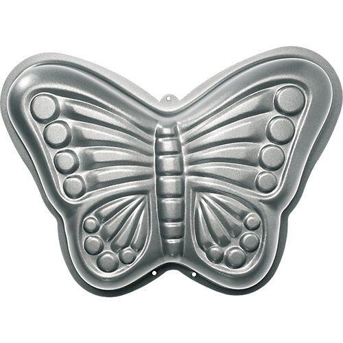Birkmann 3D-Vollbackform Schmetterling silber