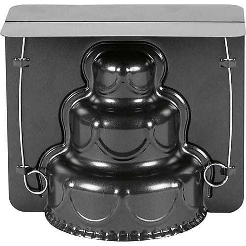 Birkmann 3D-Vollbackform Stufentorte XL Happy Birthday schwarz