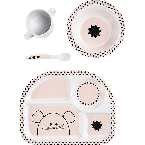 Lässig Kindergeschirrset, 4-tlg., Little Chums Mouse light pink rosa