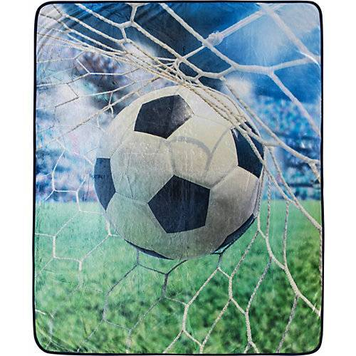 good morning BEDLINENS Kuscheldecke Fußball, 130 x 160 cm