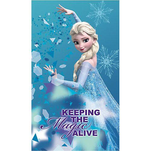 CTI Badetuch, Disney Die Eiskönigin, Frozen, Alive, 70 x 120 cm blau