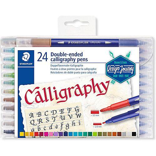 Staedtler Filzstifte Calligraph duo, 24 Farben