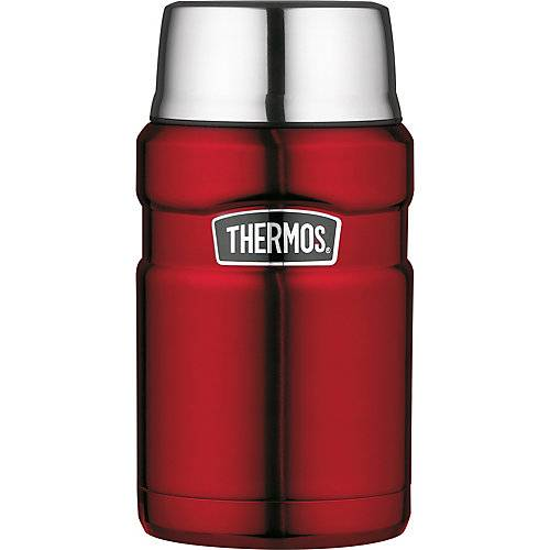 THERMOS Edelstahl Isoliergefäß STAINLESS KING FOOD JAR cranberry red polished, 710 ml rot