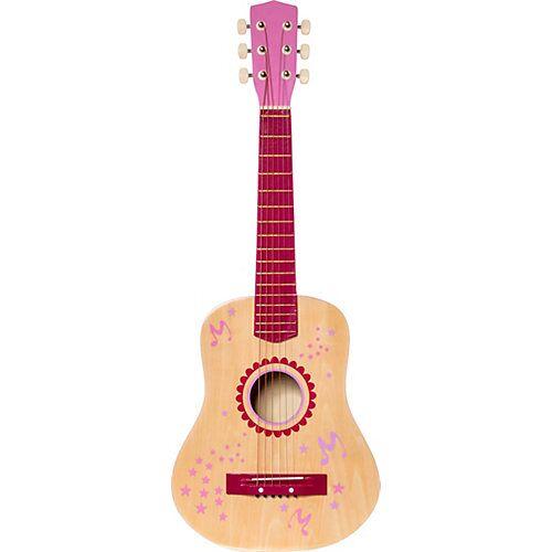 myToys Gitarre Holz 75 cm, pink beige/rosa