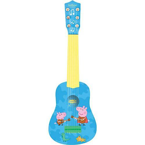 LEXIBOOK Peppe Pig - Meine erste Gitarre 53 cm blau/gelb