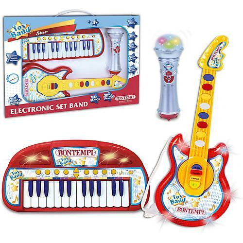 Bontempi Keyboard, Gitarre + Mikrofon Set