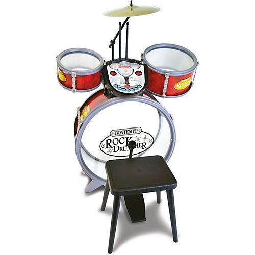 Bontempi Schlagzeug mit Hocker rot
