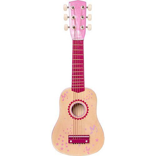 myToys Gitarre Holz 53 cm, pink beige/rosa