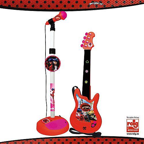 Miraculous Mikrofon und Gitarre bunt