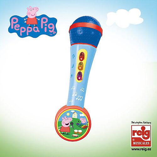 Peppa Pig Handmikrofon mit Lichtern und Melodien weiß/beige