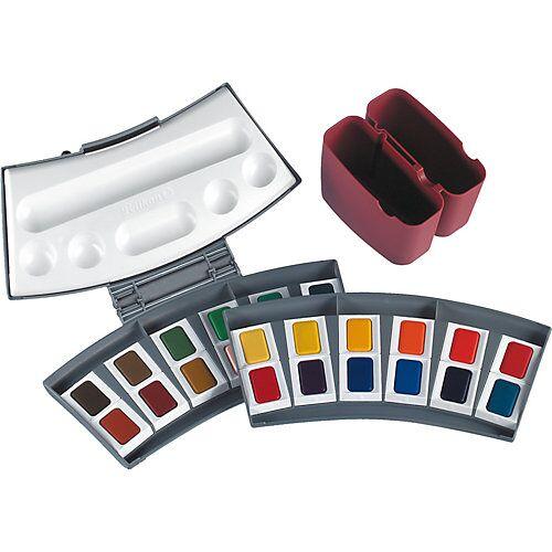Pelikan Aquarellmalkasten, 24 Farben, inkl. Zubehör rot