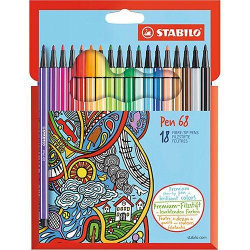 STABILO Filzstifte Pen 68, 18 Farben