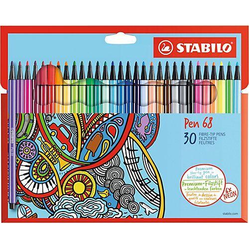 STABILO Filzstifte Pen 68, 30 Farben