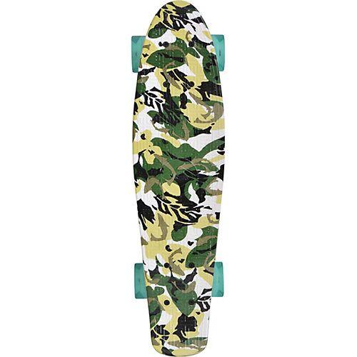 Schildkröt Retro Skateboard Free Spirit Camouflage bunt