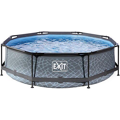 EXIT Frame Pool, ø 300 x 76 cm, grau