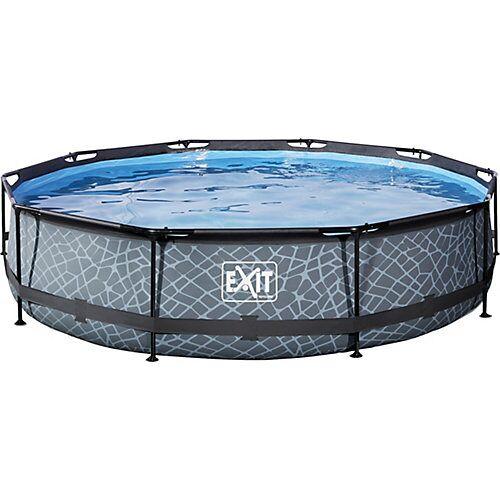 EXIT Frame Pool, ø 360 x 76 cm, grau