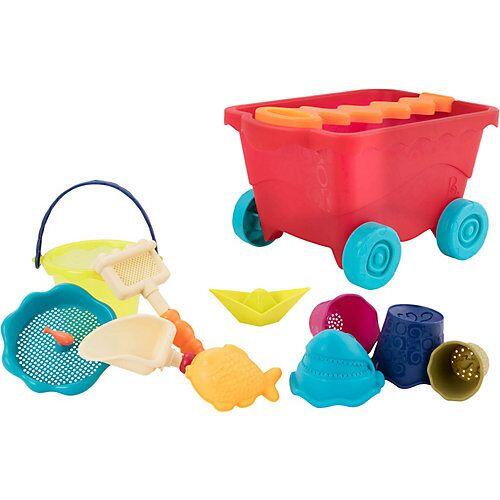 B.Toys Wagen mit 11-tlg. Sandspielzeug-Set