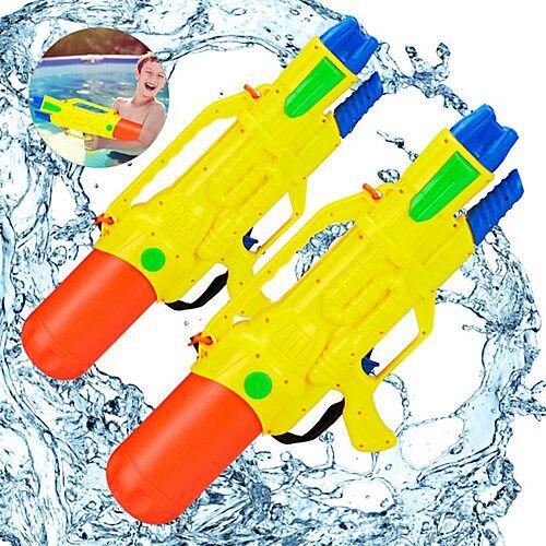 relaxdays 2 x Wasserpistole XXL Spritzpistole Kinder Pumpgun Wasser Watergun Wasserspritze mehrfarbig
