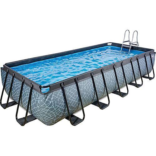 EXIT Frame Pool 5,4x2,5x1m, grau, inkl. Kartuschenfilter