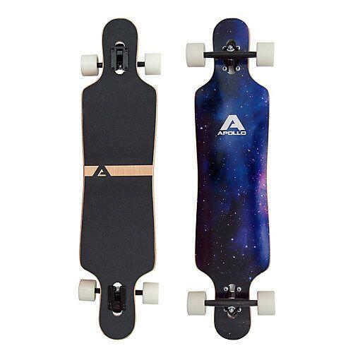 APOLLO Twin Tip DT Longboard Nebula - UV Wheels schwarz/lila