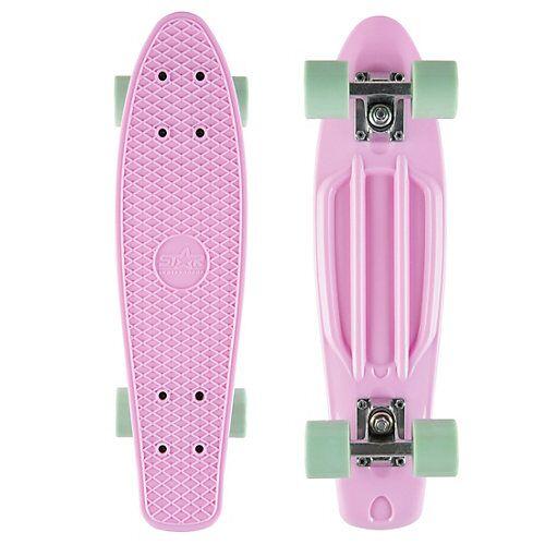 Skateboard Vintage Cruiser 60mm pink-kombi
