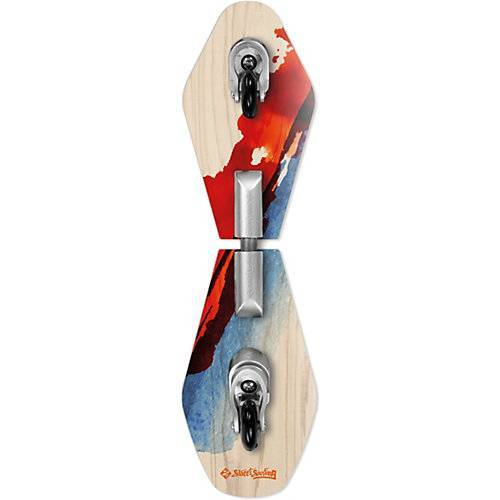 Streetsurfing Wave Rider Abstract - Wooden Casterboard grau