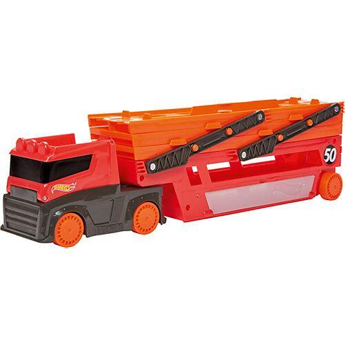 Mattel Hot Wheels Mega-Truck Spielzeugautos, Spielzeug LKW mit Platz 50 Autos  Kleinkinder