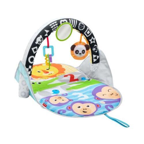 Mattel Fisher-Price Safari Spieldecke to go, Krabbeldecke mit Spielbogen, Babydecke
