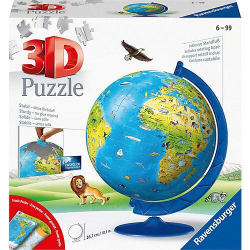 Ravensburger 3D-Puzzle Kinder-Globus Ø20cm, 180 Teile, inkl. Poster