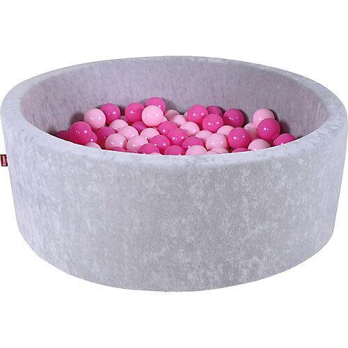 KNORRTOYS.COM Bällebad, 300 Bälle, rosa grau