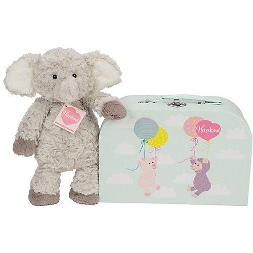Teddy-Hermann Elefant Smartie 27 cm im Koffer grau