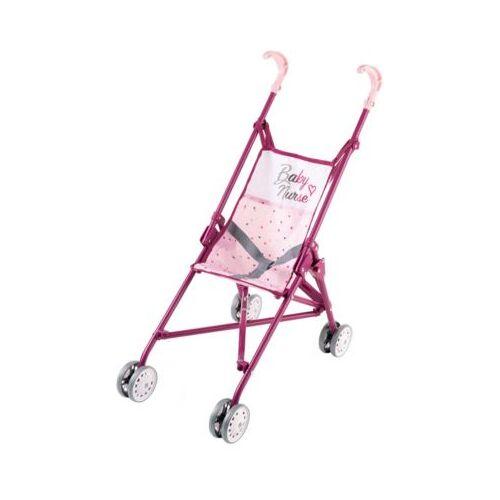 Smoby Baby Nurse Puppenwagen zusammenklappbar rosa/lila