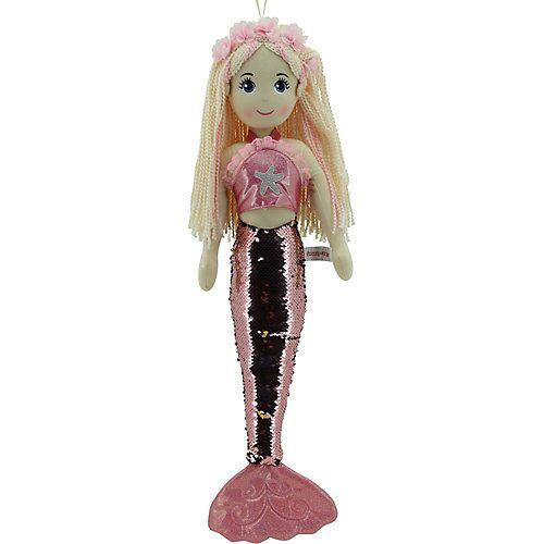 Sweety Toys 11889 Stoffpuppe Meerjungfrau Plüschtier Prinzessin 70 cm rosa