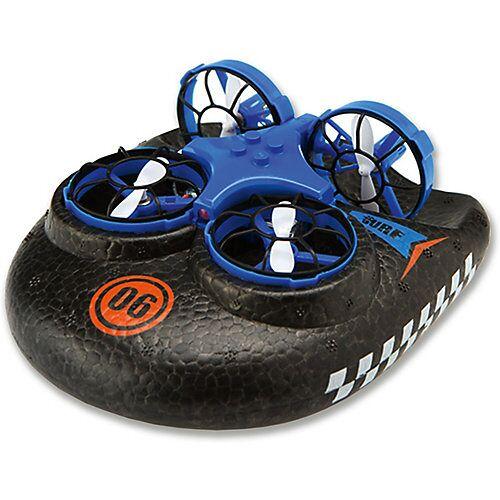 Amewi Trix - 3 in1  Hovercraft Drohne, blau. Für Wasser - Land - Luft