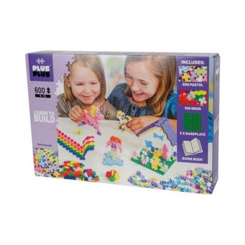 PLUS-PLUS Learn to Build Pastel, 600 Teile pastell