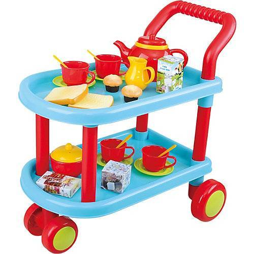Playgo Tea Time, Teewagen - 23 tlg. mehrfarbig
