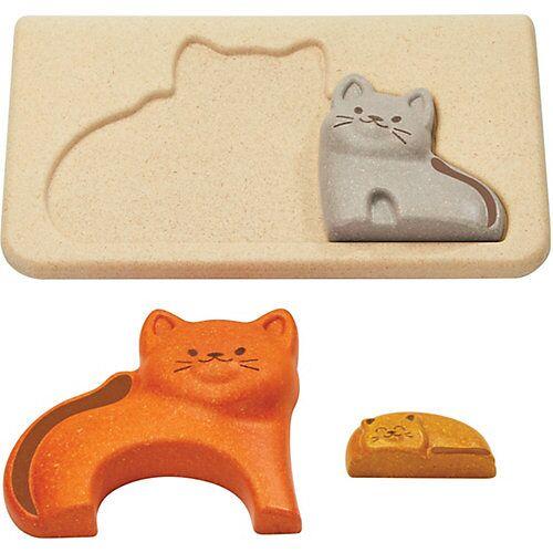 PLANTOYS Rahmenpuzzle Katzen Steckpuzzle